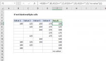 Excel formula: If not blank multiple cells