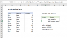 Excel formula: IF with boolean logic