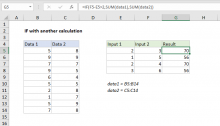 Excel formula: IF with other calculations