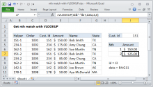 Excel formula: Get nth match with VLOOKUP
