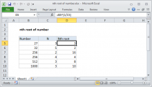 Excel formula: nth root of number