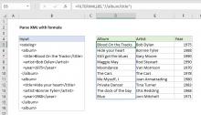 Excel formula: Parse XML with formula