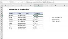 Excel formula: Random sort formula