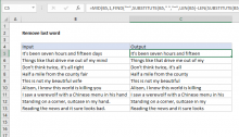 Excel formula: Remove last word