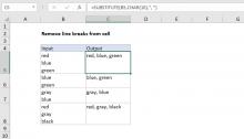 Excel formula: Remove line breaks