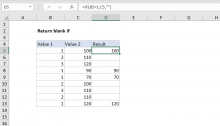 Excel formula: Return blank if