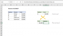 Excel formula: Reverse VLOOKUP example