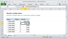 Excel formula: Round a number down