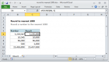 Excel formula: Round to nearest 1000