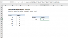 Excel formula: Self-contained VLOOKUP