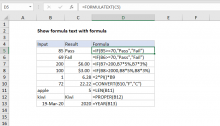 Excel formula: Show formula text with formula