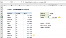 Excel formula: SUMIFS vs other lookup formulas