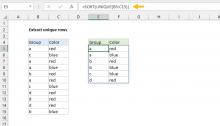 Excel formula: Unique rows