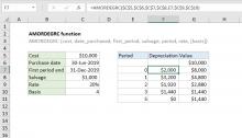Excel AMORDEGRC function