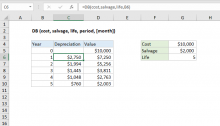 Excel DB function