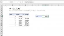 Excel RRI function