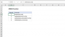 Excel AREAS function