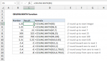 Excel CEILING.MATH function