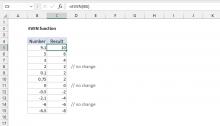 Excel EVEN function