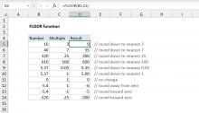 Excel FLOOR function