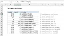 Excel FLOOR.MATH function