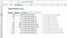 Excel FLOOR.PRECISE function