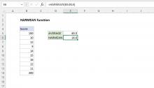 Excel HARMEAN function