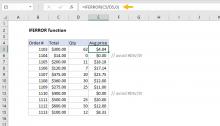 Excel IFERROR function