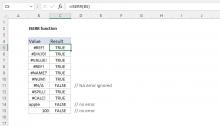 Excel ISERR function