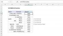 Excel ISFORMULA function