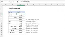 Excel ISNONTEXT function