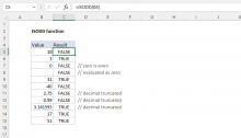 Excel ISODD function