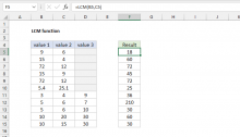 Excel LCM function