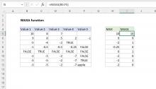 Excel MAXA function