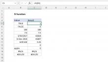 Excel N function