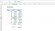 Excel NA function