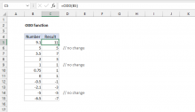 Excel ODD function