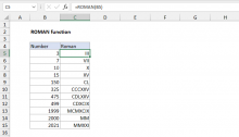 Excel ROMAN function