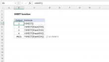 Excel SHEET function