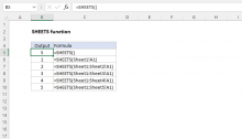 Excel SHEETS function