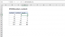Excel BITAND function