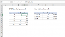 Excel BITOR function