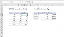 Excel BITXOR function