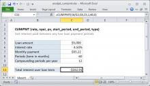 Excel CUMIPMT function