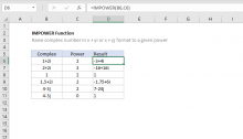 Excel IMPOWER function