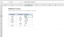Excel IMPRODUCT function