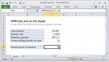 Excel NPER function