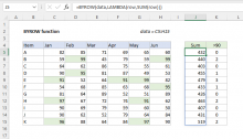 Excel BYROW function