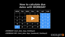 How to use the Excel NETWORKDAYS INTL function | Exceljet