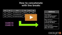 Excel formula: Remove line breaks | Exceljet